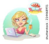 assistant secretary  cartoon... | Shutterstock .eps vector #214468951