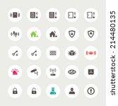 set of vector flat design... | Shutterstock .eps vector #214480135