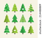 christmas tree set | Shutterstock .eps vector #214488889