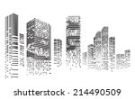 vector design   eps10 building... | Shutterstock .eps vector #214490509