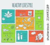 healthy lifestyle background  | Shutterstock .eps vector #214492189