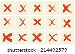 check mark sticker set | Shutterstock .eps vector #214492579