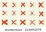 check mark sticker set | Shutterstock .eps vector #214492579