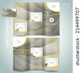 photography brochure design... | Shutterstock .eps vector #214499707