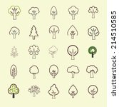 tree icon set | Shutterstock .eps vector #214510585