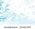 frost foliage with place for... | Shutterstock . vector #21451192