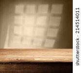 wooden top and window shadow  | Shutterstock . vector #214514011