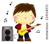 guitarist | Shutterstock .eps vector #214518571