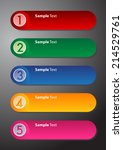 colorful modern text box... | Shutterstock .eps vector #214529761