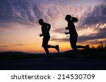 cross country trail running... | Shutterstock . vector #214530709