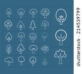 tree icon set | Shutterstock .eps vector #214539799