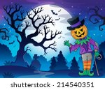 scenery with halloween... | Shutterstock .eps vector #214540351