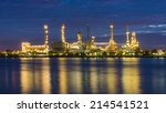 oil refinery at twilight... | Shutterstock . vector #214541521