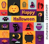 happy halloween greeting card... | Shutterstock .eps vector #214549099