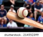 baseball bat hitting ball | Shutterstock . vector #214552399