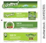 ecology  organic  nature green...   Shutterstock .eps vector #214552501