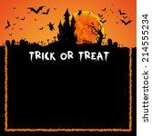 happy halloween card template ... | Shutterstock .eps vector #214555234