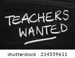 Постер, плакат: Teachers Wanted written in
