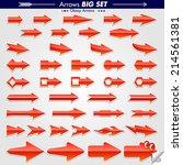 original arrow designs glossy... | Shutterstock .eps vector #214561381