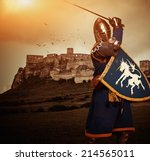 Medieval Knight Against Spis...