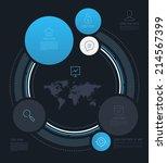 vector abstract circle info...