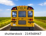 School Bus On American Country...