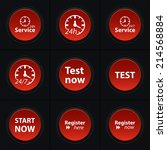 vector set icons for print  app ... | Shutterstock .eps vector #214568884