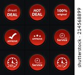 vector set icons for print  app ...   Shutterstock .eps vector #214568899