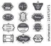 set of vintage badges  labels ... | Shutterstock .eps vector #214571971