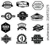 set of  best price   best... | Shutterstock .eps vector #214572175