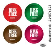 risk free colorful button... | Shutterstock .eps vector #214576825