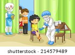 specialist physician doctor is... | Shutterstock .eps vector #214579489