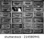 old wooden lockers   Shutterstock . vector #214580941