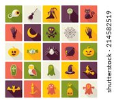 halloween symbols collection.... | Shutterstock . vector #214582519
