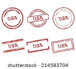 usa stamps | Shutterstock .eps vector #214583704