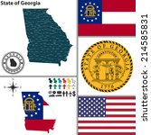 america,american,areas,atlanta,atlas,augusta-richmond,borders,boundary,button,cartography,country,county,divisions,dollar,flag