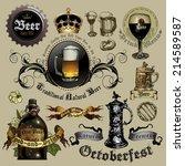 set of beer elements | Shutterstock .eps vector #214589587
