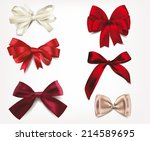 set of silk bows | Shutterstock .eps vector #214589695