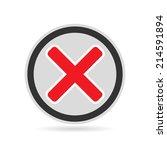cross icon in circle   can be... | Shutterstock .eps vector #214591894