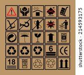 cargo handling icons used... | Shutterstock .eps vector #214593175