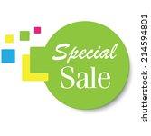 special sale sticker. jpg. | Shutterstock . vector #214594801