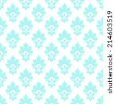 vector seamless with damask... | Shutterstock .eps vector #214603519