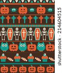 halloween seamless pattern.... | Shutterstock .eps vector #214604515