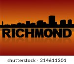 richmond skyline reflected with ... | Shutterstock .eps vector #214611301
