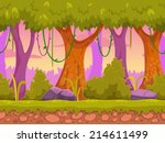 seamless cartoon forest...