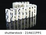 Curving Row Of Dominoes...