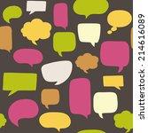 seamless pattern with speech... | Shutterstock .eps vector #214616089