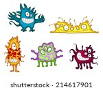 cartoon funny monsters and... | Shutterstock .eps vector #214617901