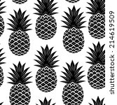 vintage pineapple seamless for... | Shutterstock .eps vector #214619509