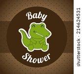 baby design over brown ... | Shutterstock .eps vector #214624531